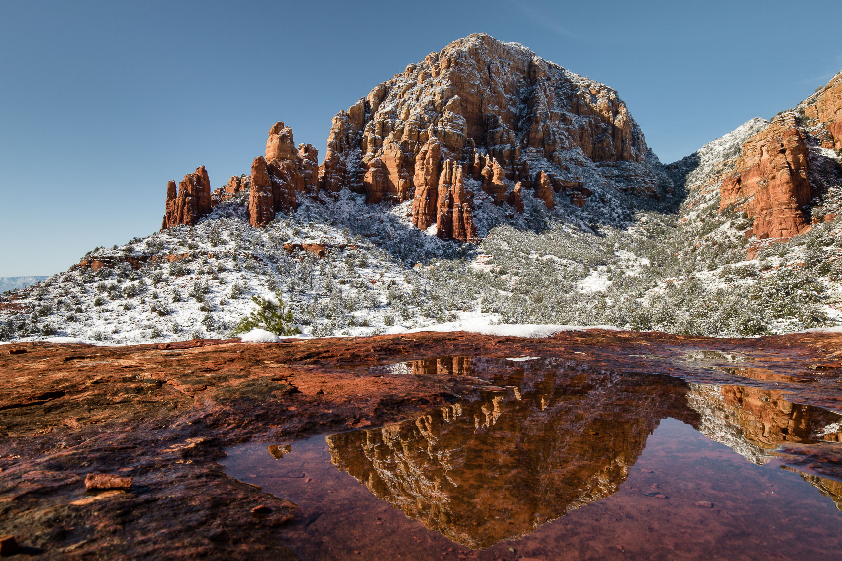 Thunder Mountain Reflections after Snow