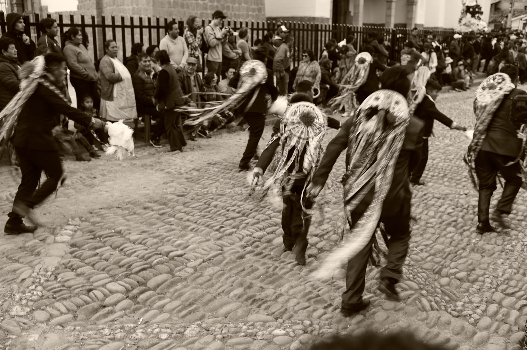 Dancers in Pisac Plaza