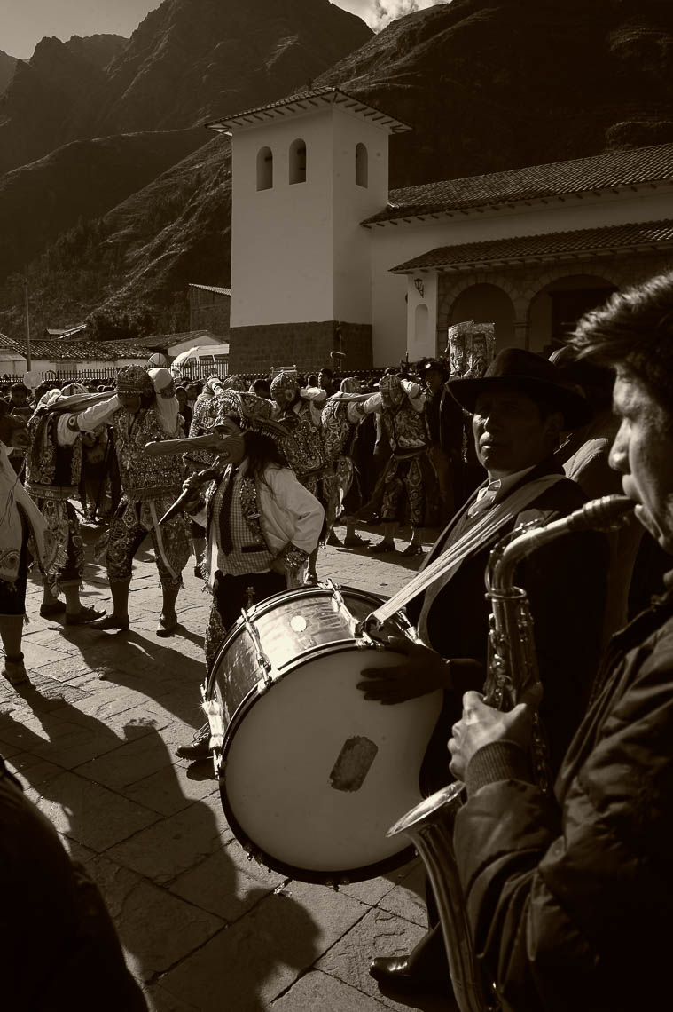 Band and Dancers in Pisac Virgen Del Carmen