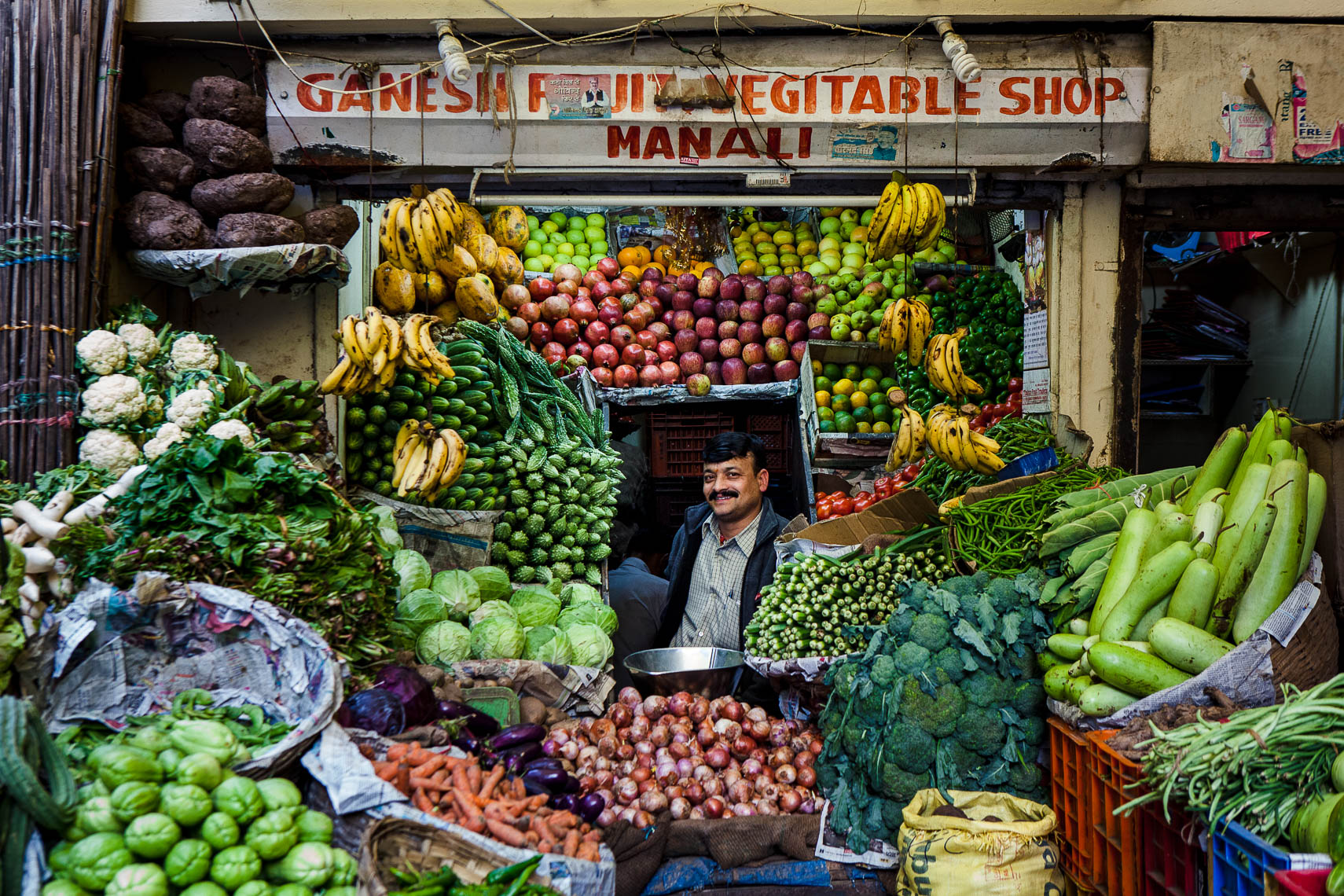 Ganesh Vegetable Shop, Manali, India